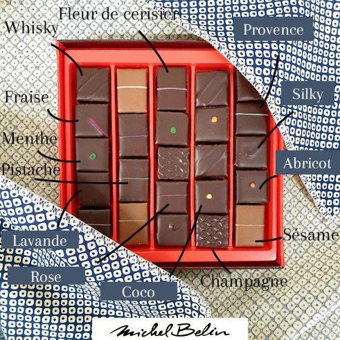 Image Contenu du Coffret de chocolats spécial japon Michel Belin